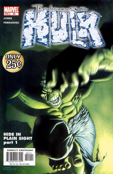 Couverture de Incredible Hulk (The) (Marvel comics - 2000) -58- Hide in plain sight: braind dead