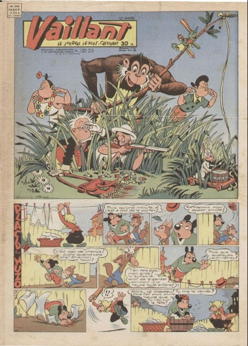 Couverture de Vaillant (le journal le plus captivant) -596- Vaillant