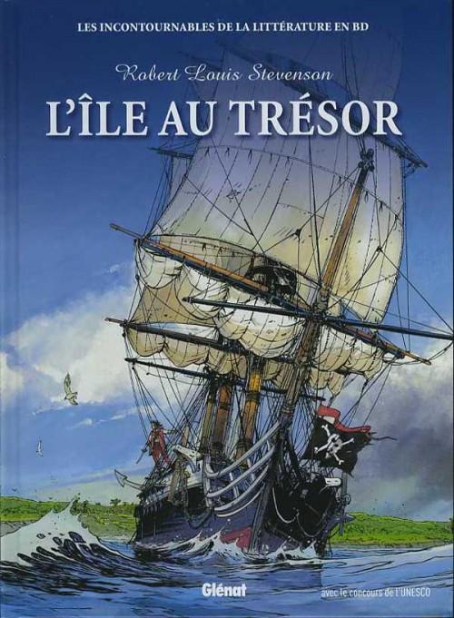 Couverture de Les incontournables de la littérature en BD -1- L'Île au trésor