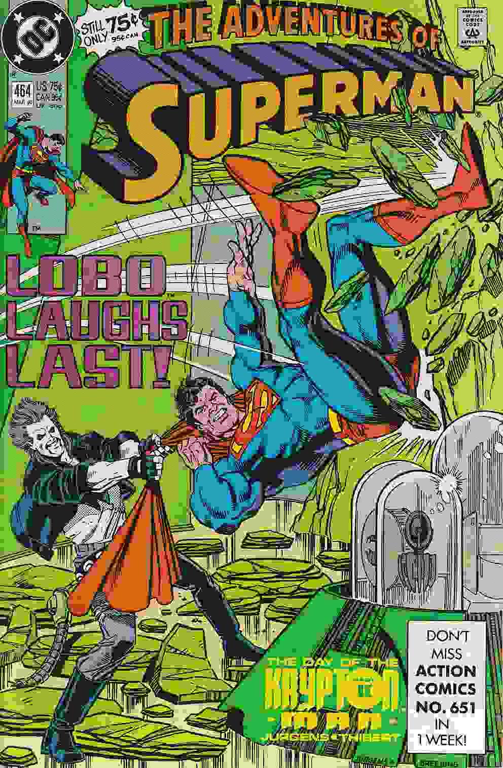Couverture de Superman (The Adventures of) (1987) -464- Lobo laughs last!
