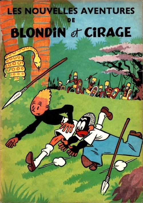 Couverture de Blondin et Cirage -4- Les nouvelles aventures de Blondin et Cirage