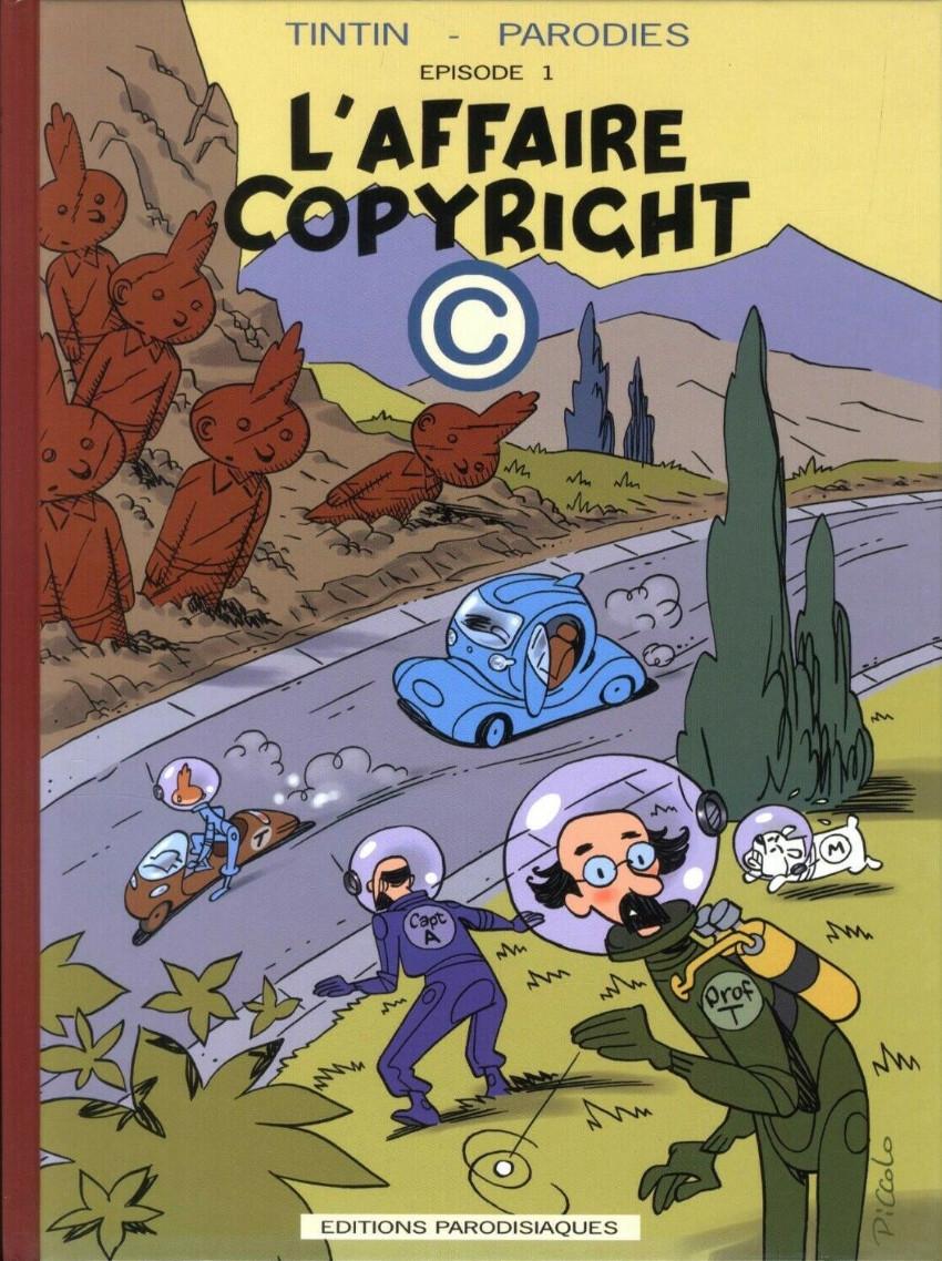 Couverture de Tintin - Pastiches, parodies & pirates -34- L'affaire copyright