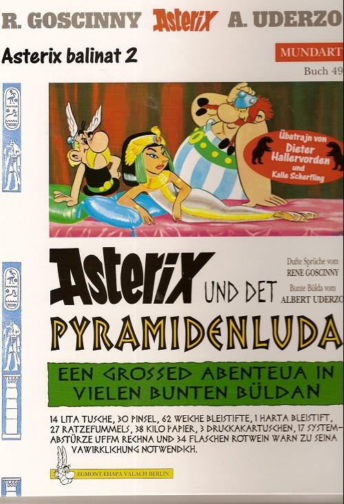 Couverture de Astérix (en langues étrangères) -6Berl- Asterix und det Pyramidenluda
