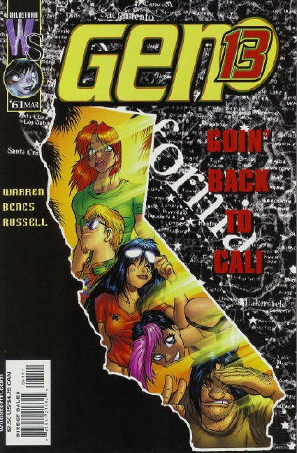 Couverture de Gen13 (1995) -61- Goin' back to cali, to cali, to cali