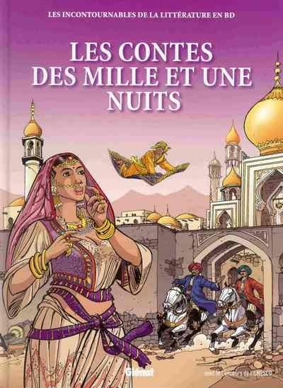 Couverture de Les incontournables de la littérature en BD -8- Les Contes des mille et une nuits