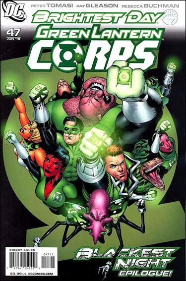 Couverture de Green Lantern Corps (2006) -47- Goodbye darkness