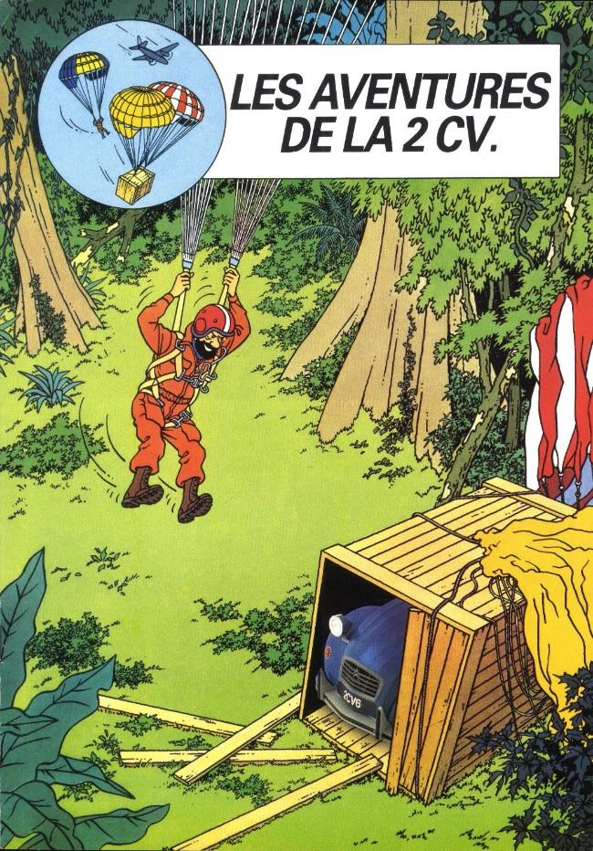 Couverture de Tintin - Publicités -Citroën- Les Aventures de la 2 CV