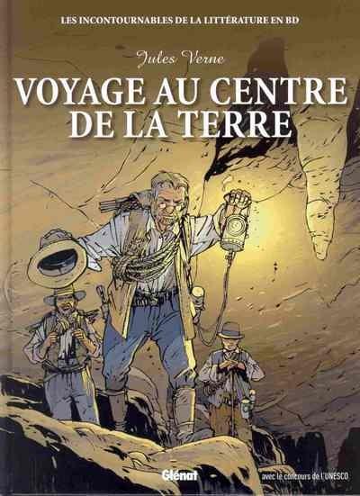 Couverture de Les incontournables de la littérature en BD -9- Voyage au centre de la Terre