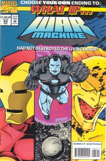 Couverture de What If? vol.2 (1989) -63- What if... War Machine Had Not Destroyed the Living Laser?