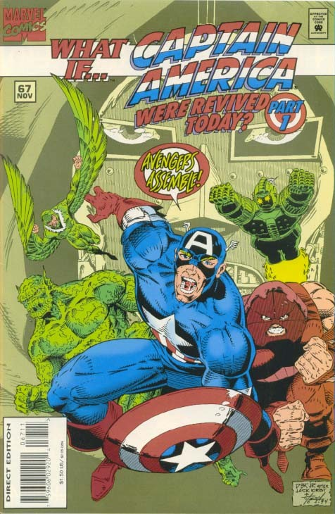 Couverture de What If? vol.2 (1989) -67- What if... captain america were revived today?