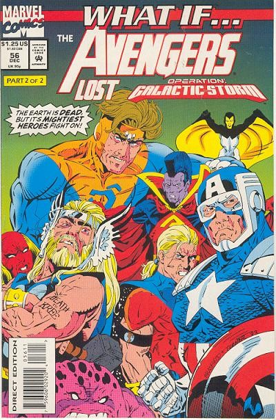 Couverture de What If? vol.2 (1989) -56- What if... the avengers lost operation galactic storm?