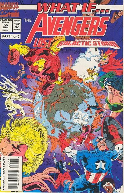 Couverture de What If? vol.2 (1989) -55- What if... the avengers lost operation galactic storm?