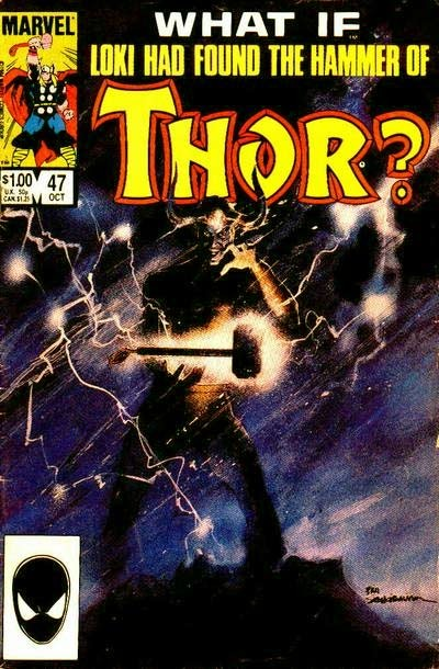 Couverture de What If? vol.1 (1977) -47- What if... loki found thor's hammer first?