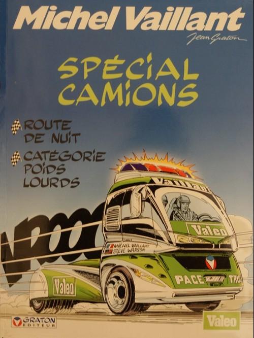 Couverture de Michel Vaillant -38Pub- Spécial camions (route de nuit, catégorie poids lourds)