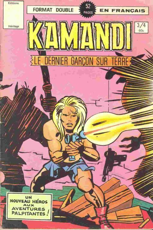 Couverture de Kamandi (Éditions Héritage) -34- L'année du rat