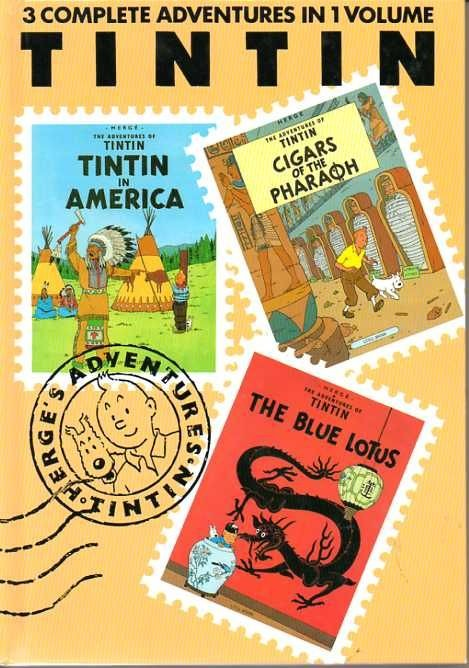 Couverture de Tintin (The Adventures of) -INT01- Tintin in America - Cigars of the Pharaoh - The Blue Lotus