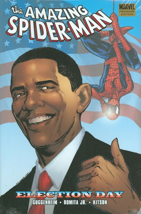 Couverture de Amazing Spider-Man (The) (TPB) -INTHC- Election day (Obama cover)