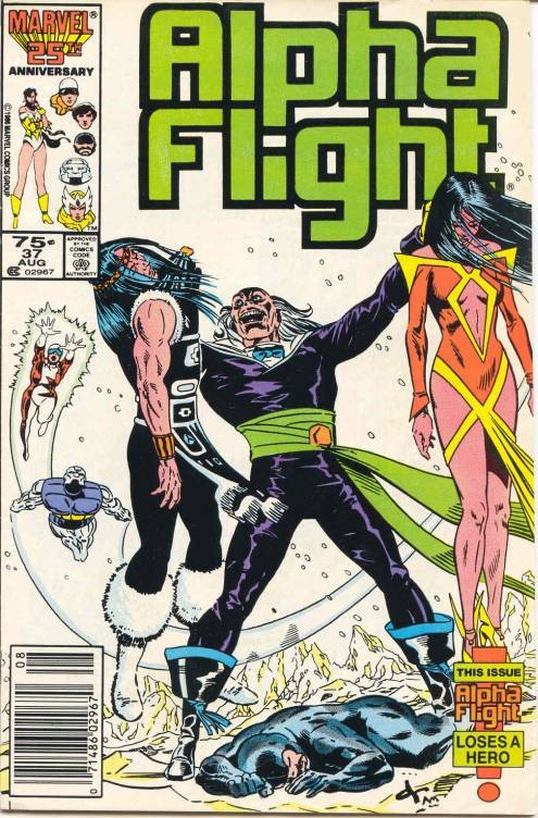 Couverture de Alpha Flight (1983) -37- Death birth