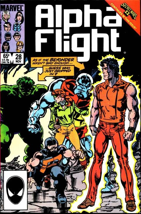Couverture de Alpha Flight (1983) -28- Cross-over
