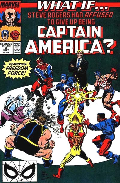Couverture de What If? vol.2 (1989) -3- What if... Steve Rogers had refused to give up being Captain America ?