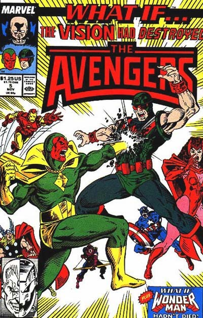 Couverture de What If? vol.2 (1989) -5- What if... wonder man had not died? / what if... the vision had destroyed the avengers?
