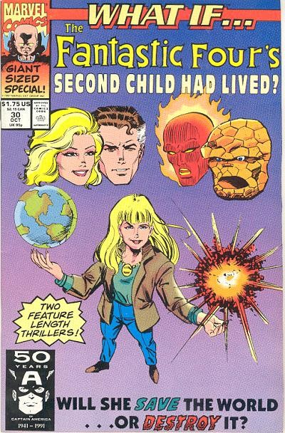 Couverture de What If? vol.2 (1989) -30- What if... the fantastic four's second child had lived?