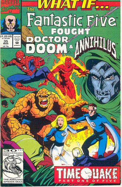 Couverture de What If? vol.2 (1989) -35- What if... the fantastic four fought doctor doom & annihilus?