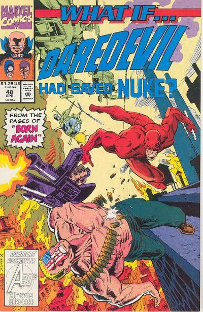 Couverture de What If? vol.2 (1989) -48- What if... daredevil had saved nuke?