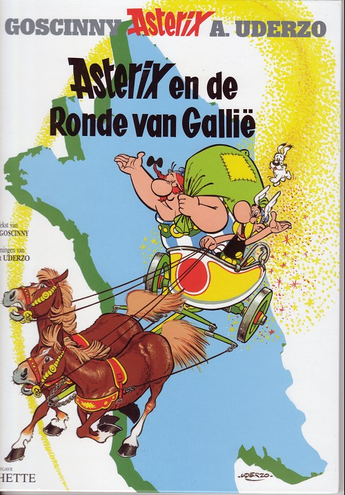 Couverture de Astérix (en néerlandais) -5- Asterix en de Ronde van Gallië