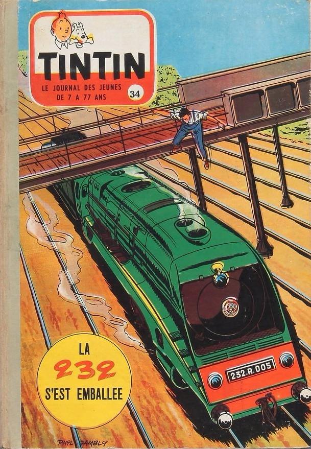 Couverture de (Recueil) Tintin (Album du journal - Édition française) -34- Tintin album du journal