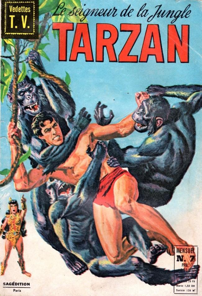 Couverture de Tarzan (2e Série - Sagédition) (Vedettes T.V.) -7- Le lion d'or, La fureur des abimes