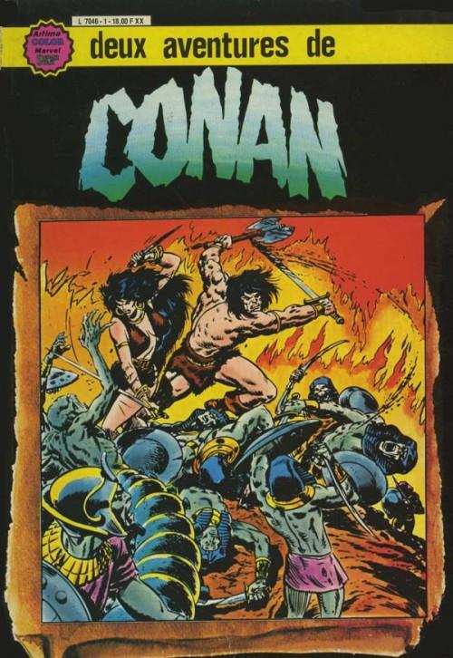 Couverture de Conan le barbare (1re série - Aredit - Artima Marvel Color) -Rec03- Album N°1 (n°5 et n°6)