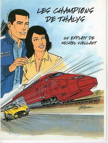 Couverture de Michel Vaillant -31Pub- Les champions de Thalys
