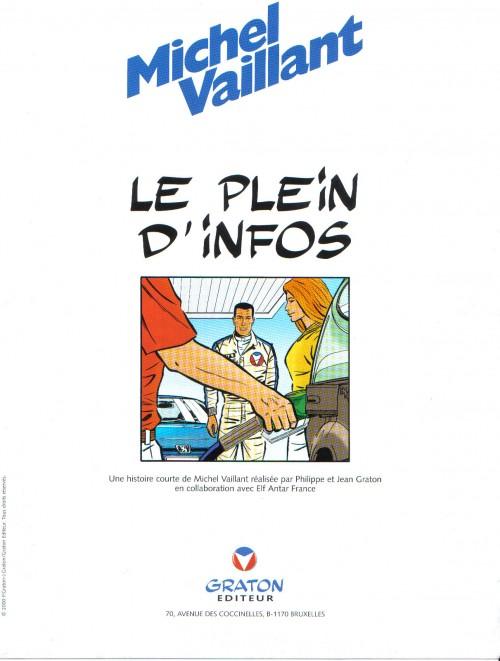 Couverture de Michel Vaillant -36Pub- Le Plein d'infos