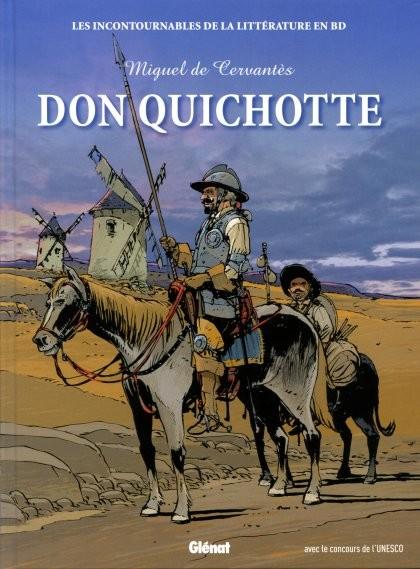 Couverture de Les incontournables de la littérature en BD -24- Don Quichotte