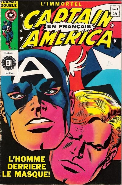 Couverture de Capitaine America (Éditions Héritage) -4- L'homme derrière le masque !