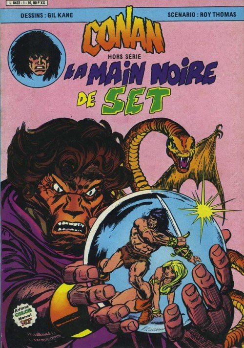 Couverture de Conan le barbare (1re série - Aredit - Artima Marvel Color) -HS2- La main noire de Set