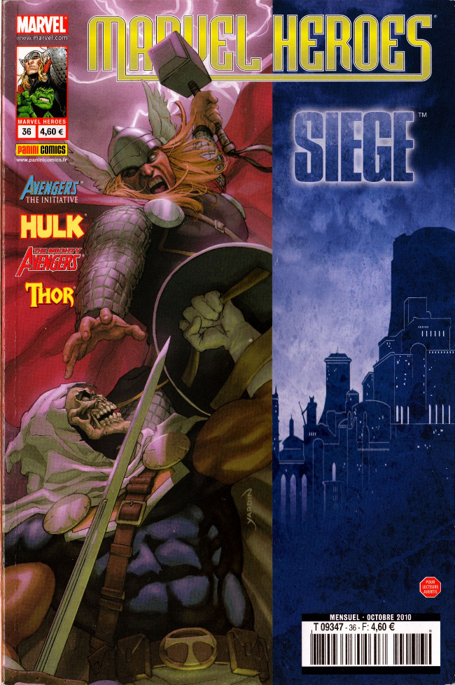 Couverture de Marvel Heroes (Marvel France - 2007) -36- Carpe diem