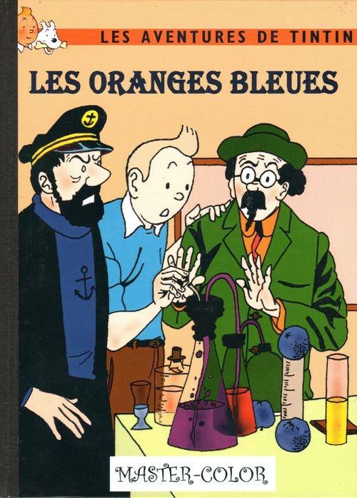 bande dessinee tintin et les oranges bleues