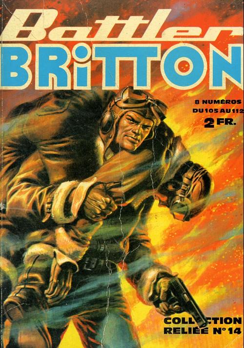 Couverture de Battler Britton (Imperia) -Rec14- Collection Reliée N°14 (du n°105 au n°112)