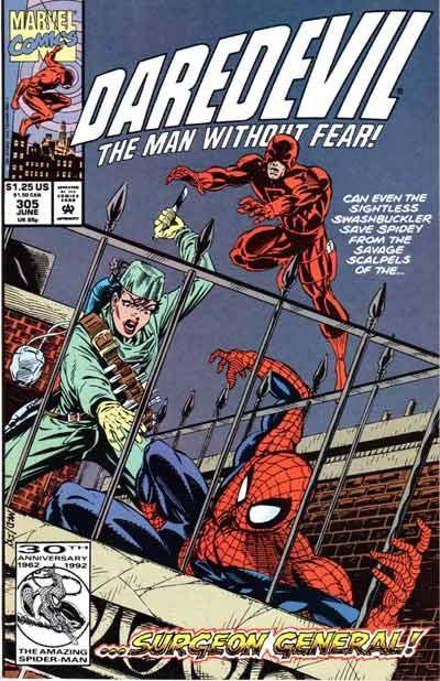 Couverture de Daredevil (1964) -305- Under the knife