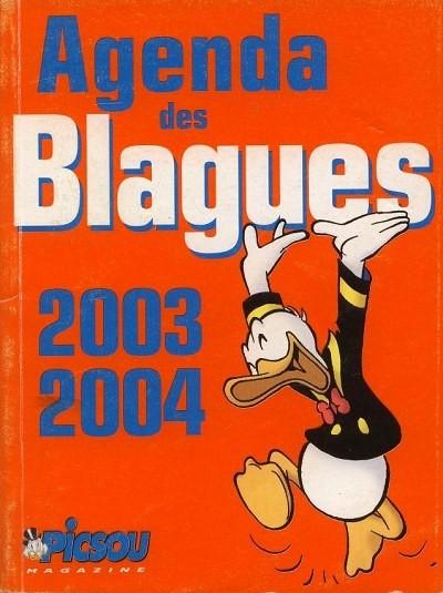 Couverture de Picsou Magazine -HS2- Agenda des blagues 2003/2004