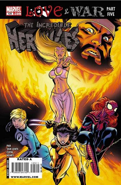 Couverture de The incredible Hercules (2008) -125- Love & war