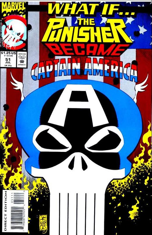 Couverture de What If? vol.2 (1989) -51- What if... the punisher became captain america?