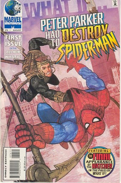 Couverture de What If? vol.2 (1989) -76- What if... peter parker had to destroy spider-man?