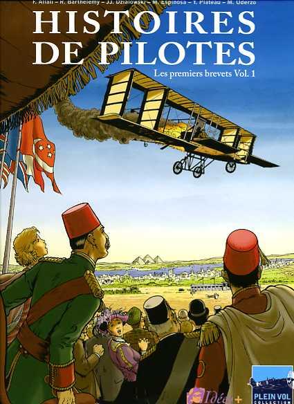 Couverture de Histoires de pilotes -1- Les premiers brevets - Vol. 1