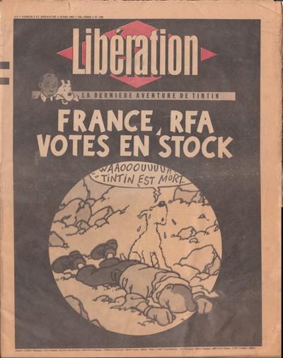 Couverture de Tintin - Divers - France, RFA - Votes en stock