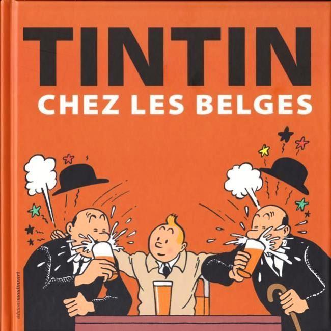 Couverture de Tintin - Divers - Tintin chez les Belges