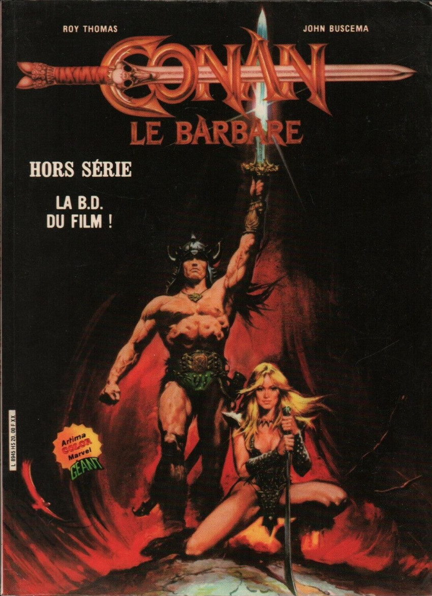Couverture de Conan le barbare (1re série - Aredit - Artima Marvel Color) -HS- Conan le Barbare - La BD du film !