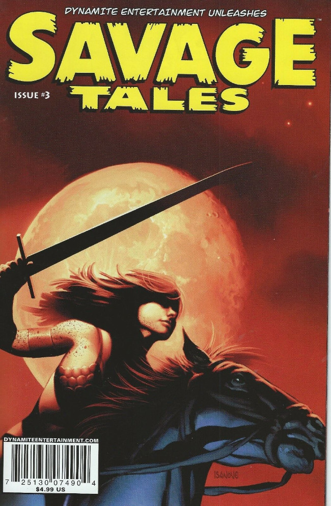 Couverture de Savage tales (Dynamite - 2007) -3VC2- Issue #3